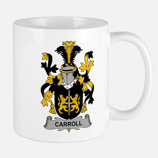 Carroll Family Crest Mugs