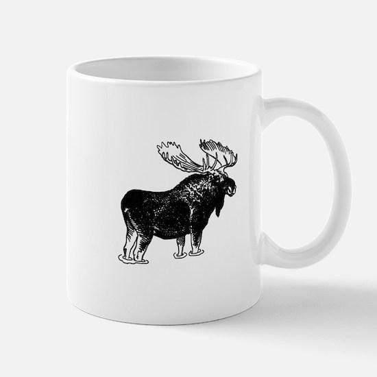 Bull Moose (illustration) Mugs