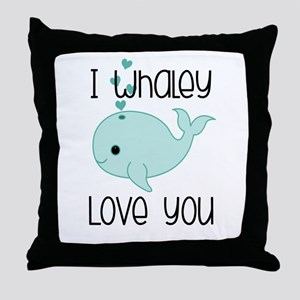Whaley Love You (2) Throw Pillow