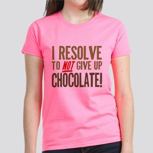 Chocolate Resolution Women's Dark T-Shirt