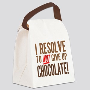 Chocolate Resolution Canvas Lunch Bag