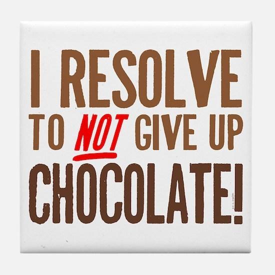 Chocolate Resolution Tile Coaster