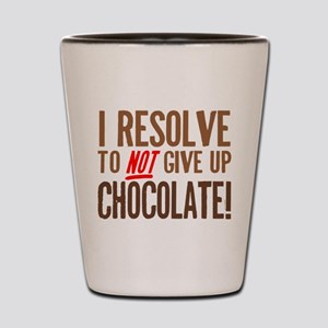 Chocolate Resolution Shot Glass