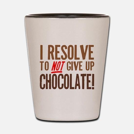 Chocolate Resolution Shot Glass