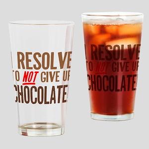 Chocolate Resolution Drinking Glass