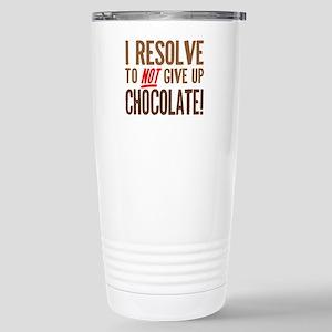 Chocolate Resolution Stainless Steel Travel Mug