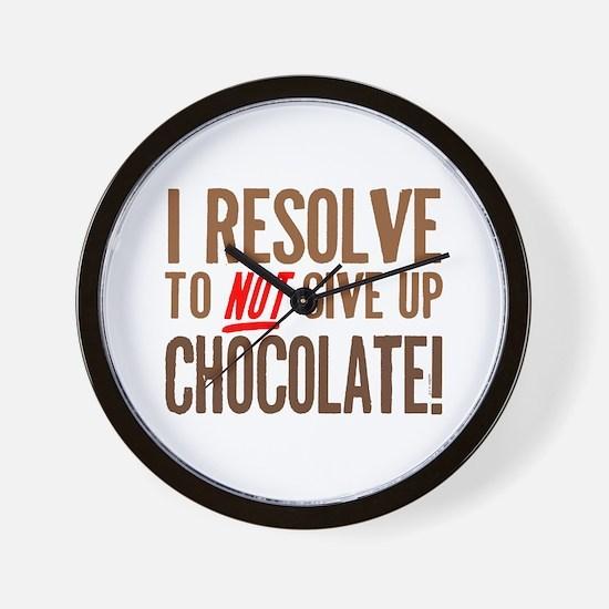 Chocolate Resolution Wall Clock
