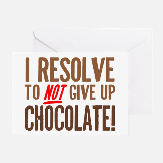 Chocolate Resolution Greeting Card