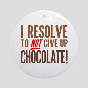 Chocolate Resolution Ornament (Round)