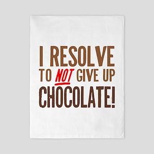 Chocolate Resolution Twin Duvet