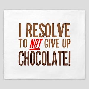 Chocolate Resolution King Duvet