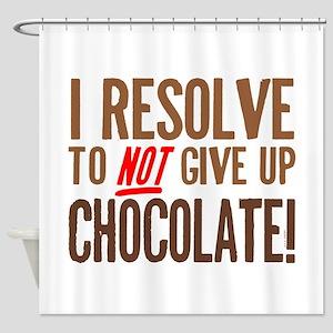 Chocolate Resolution Shower Curtain