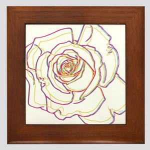 OYOOS Flower Abstract design Framed Tile