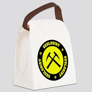 Yellow Geologist Emblem Canvas Lunch Bag