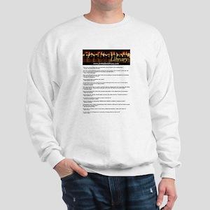 Forbidden Library Censorship Quotes Sweatshirt