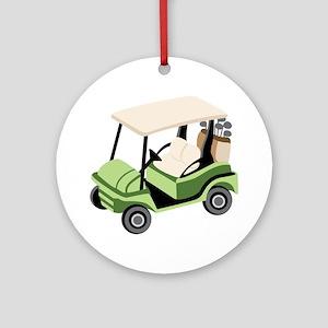 Golf Cart Ornament (Round)