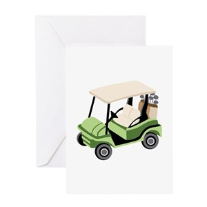 Golf Cart Greeting Cards - CafePress Leprechaun In A Golf Cart on maleficent golf cart, unicorn golf cart, ghostbusters golf cart, predator golf cart, gnome golf cart,