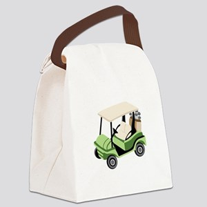 Golf Cart Canvas Lunch Bag