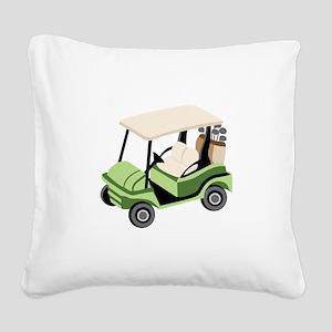 Golf Cart Square Canvas Pillow