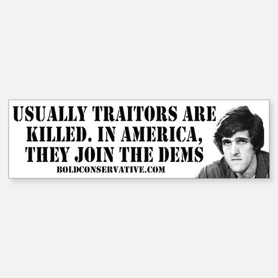 Traitors join Dems Bumper Bumper Bumper Sticker