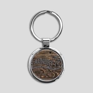 Laundry 15 cents Round Keychain