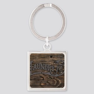Laundry 15 cents Square Keychain