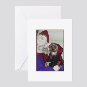 Yorkie Christmas Card Greeting Cards