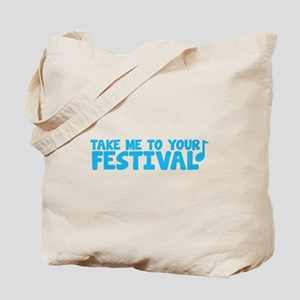 Take me to your FESTIVAL with music notes Tote Bag