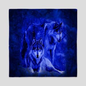 Winter Wolves Queen Duvet
