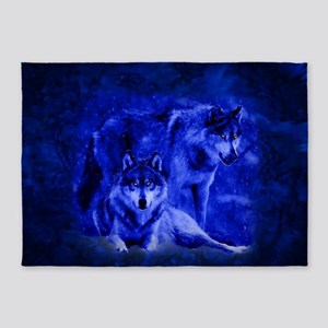Winter Wolves 5'x7'Area Rug
