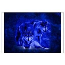 Winter Wolves Large Poster