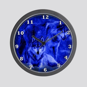 Winter Wolves Wall Clock