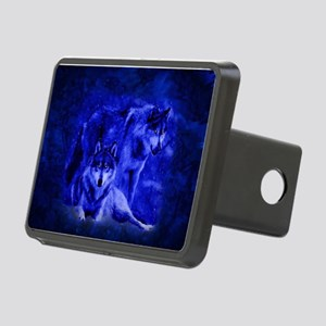Winter Wolves Rectangular Hitch Cover