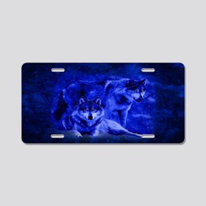 Winter Wolves Aluminum License Plate