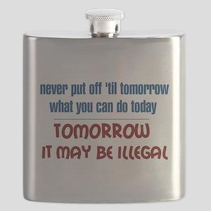 Illegal Tomorrow Flask