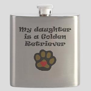 My Daughter Is A Golden Retriever Flask