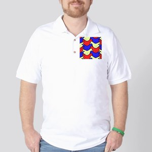 Red, Yellow and Blue Birds Golf Shirt