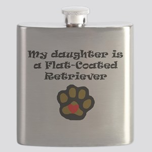 My Daughter Is A Flat-Coated Retriever Flask