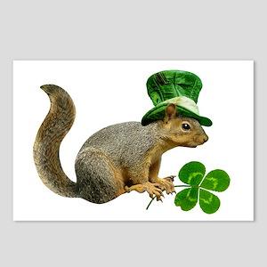 Leprechaun Squirrel Postcards (Package of 8)