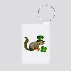 Leprechaun Squirrel Aluminum Photo Keychain