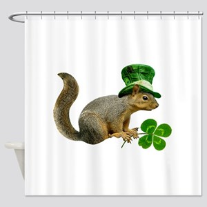 Leprechaun Squirrel Shower Curtain