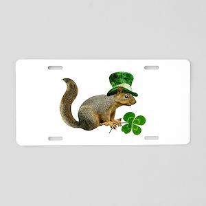 Leprechaun Squirrel Aluminum License Plate