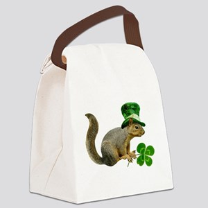 Leprechaun Squirrel Canvas Lunch Bag