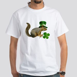 Leprechaun Squirrel White T-Shirt