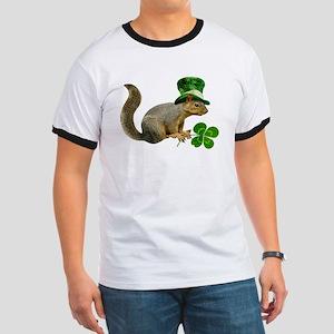 Leprechaun Squirrel Ringer T