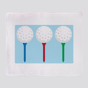 Golf Tees and Balls Throw Blanket