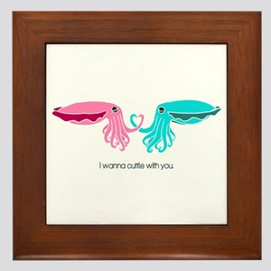 Cuttle with You Framed Tile
