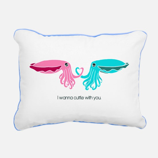 Cuttle with You Rectangular Canvas Pillow