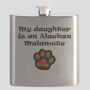 My Daughter Is An Alaskan Malamute Flask
