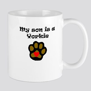 My Son Is A Yorkie Mugs